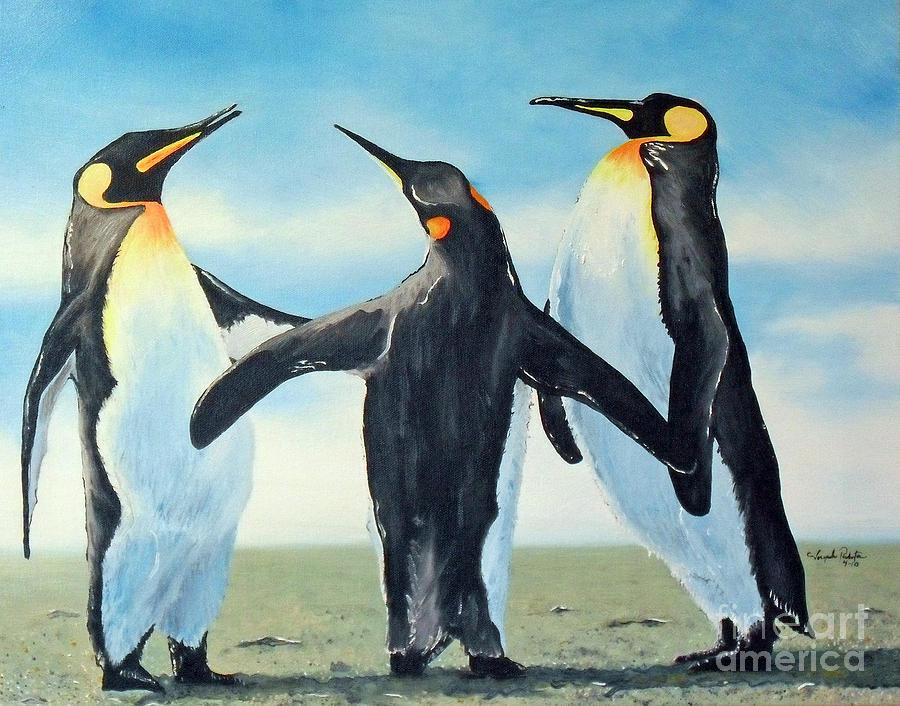 Gossip Painting - Gossip by Joseph Palotas