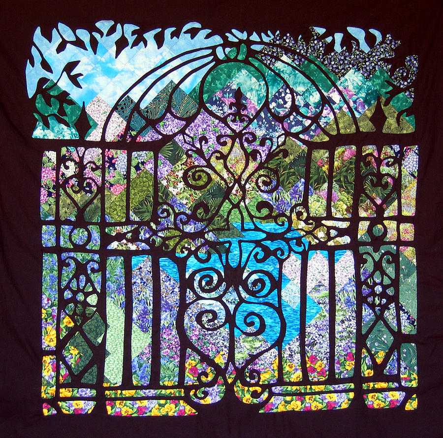 Gothic Gate To The Garden Tapestry Textile By Sarah Hornsby
