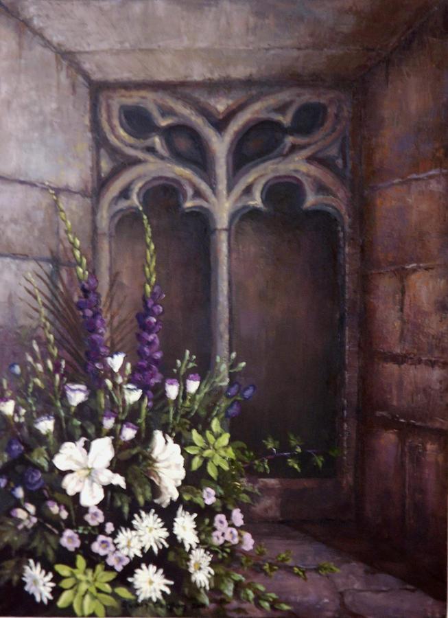 Floral Painting - Gothic Wedding Bouquet by Sean Conlon