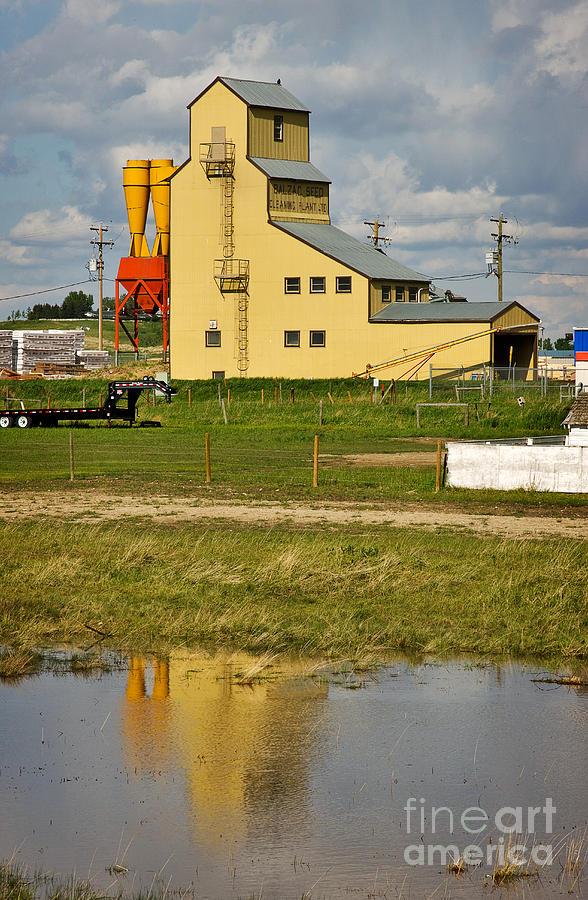 Travel Photograph - Grain Elevator In Balzac Alberta by Louise Heusinkveld