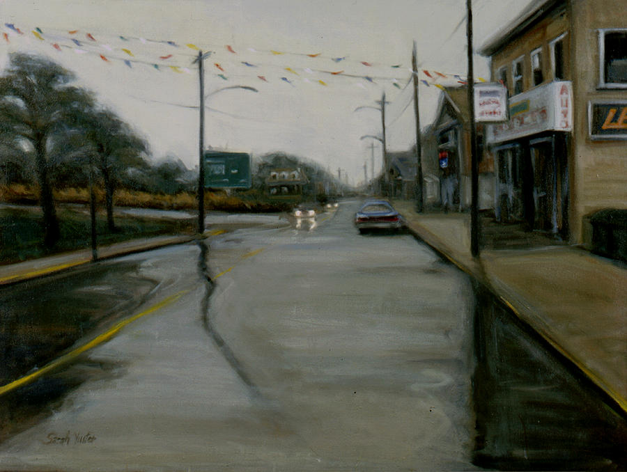 Rain Painting - Grand Opening by Sarah Yuster