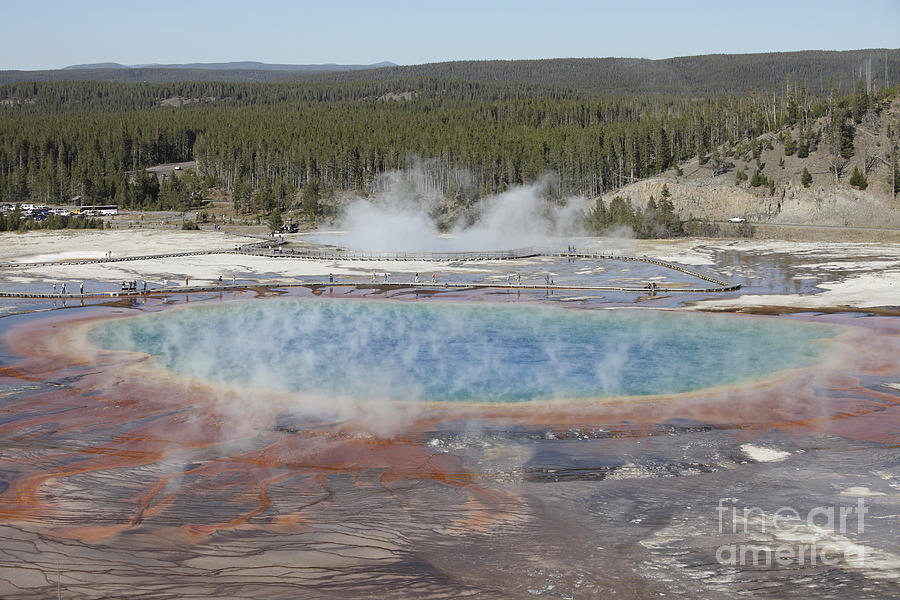 Unesco Photograph - Grand Prismatic Spring, Midway Geyser by Richard Roscoe
