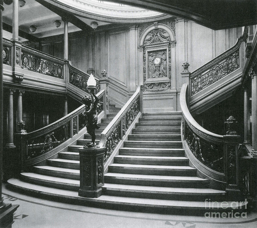 Grand Staircase Of The Titanic Photograph By Photo Researchers
