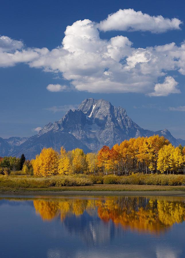 Grand Teton Photograph - Grand Teton Xii by John Blumenkamp