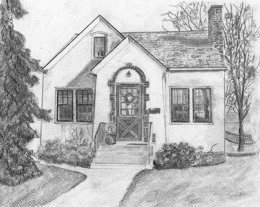Grandma 39 S House Drawing By Sue Olson
