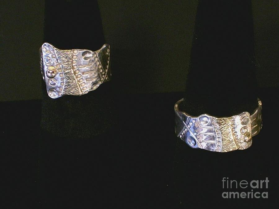 Ring Jewelry - Graphix Ring Sterling And Gold by Dyan  Johnson