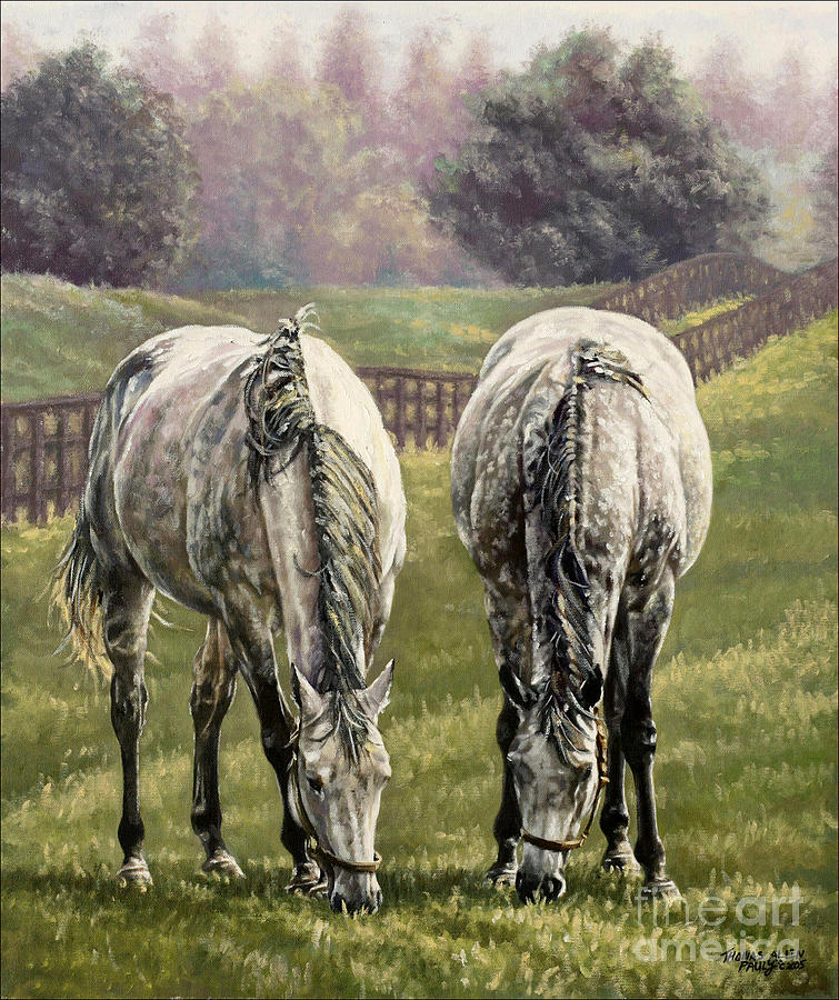 Derby Painting - Grazing by Thomas Allen Pauly