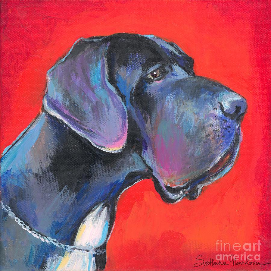 Great Dane Painting Painting - Great Dane Painting by Svetlana Novikova