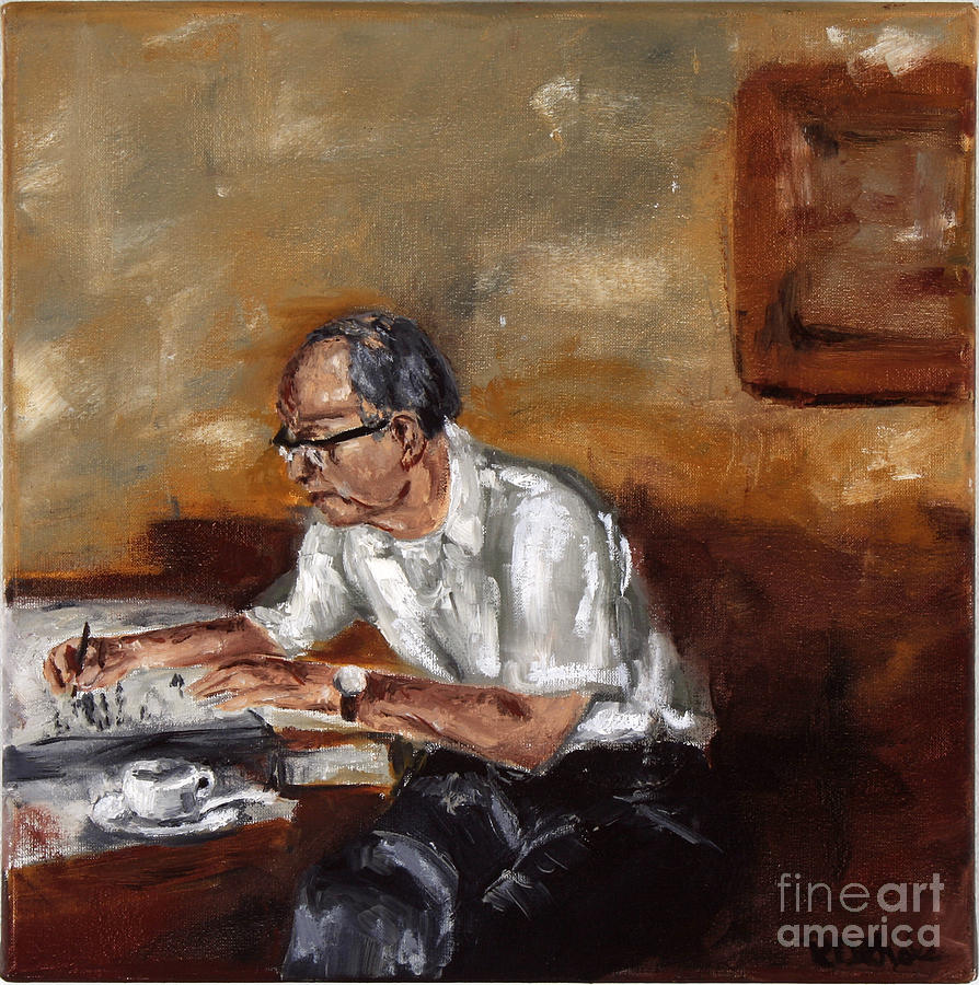 Man Painting - Great-grandpa by Robin DeLisle