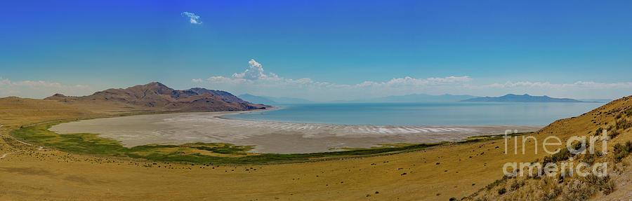 Great Salt Lake From Antelope Island Utah Photograph