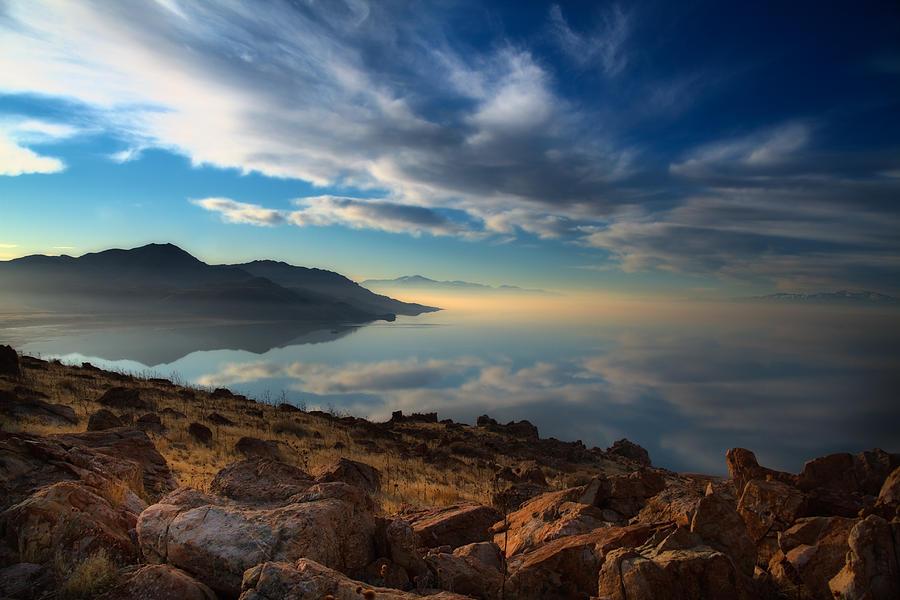 Antelope Island Photograph - Great Salt Lake Utah by Utah Images