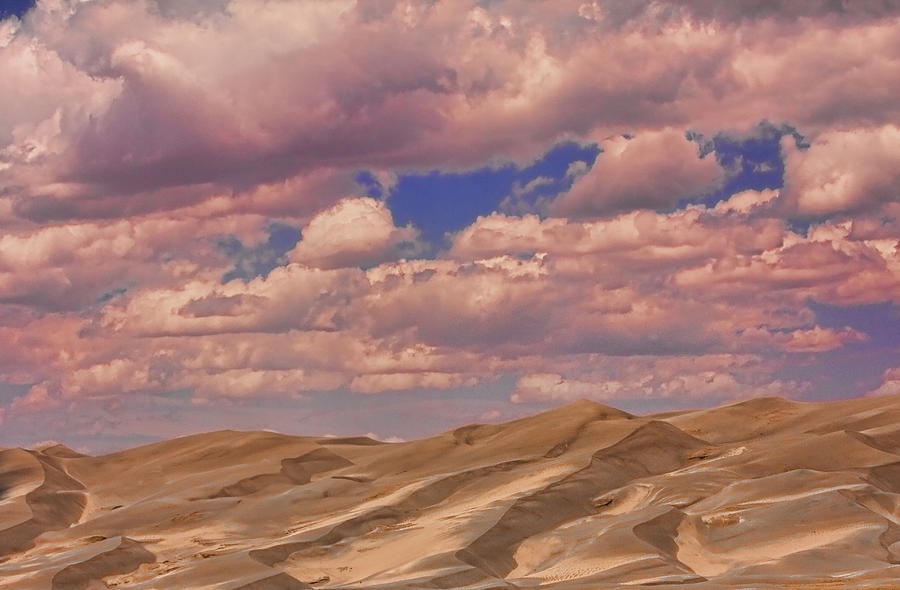 the Great Colorado Sand Dunes Photograph - Great Sand Dunes And Great Clouds by James BO  Insogna