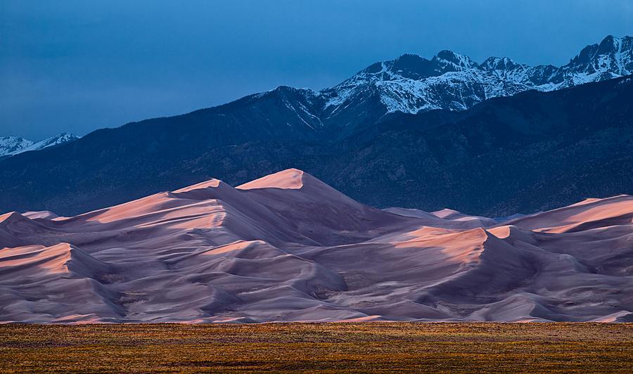 Cloud Photograph - Great Sand Dunes  Colorado by Steve Gadomski