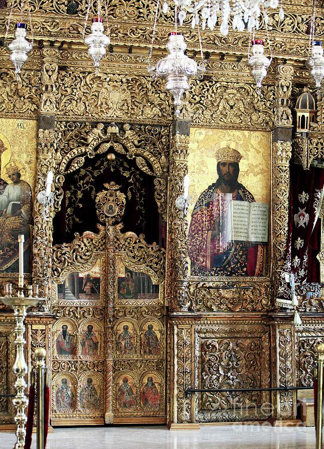 Greek Orthodox Alter Photograph - Greek Orthodox Alter by John Rizzuto