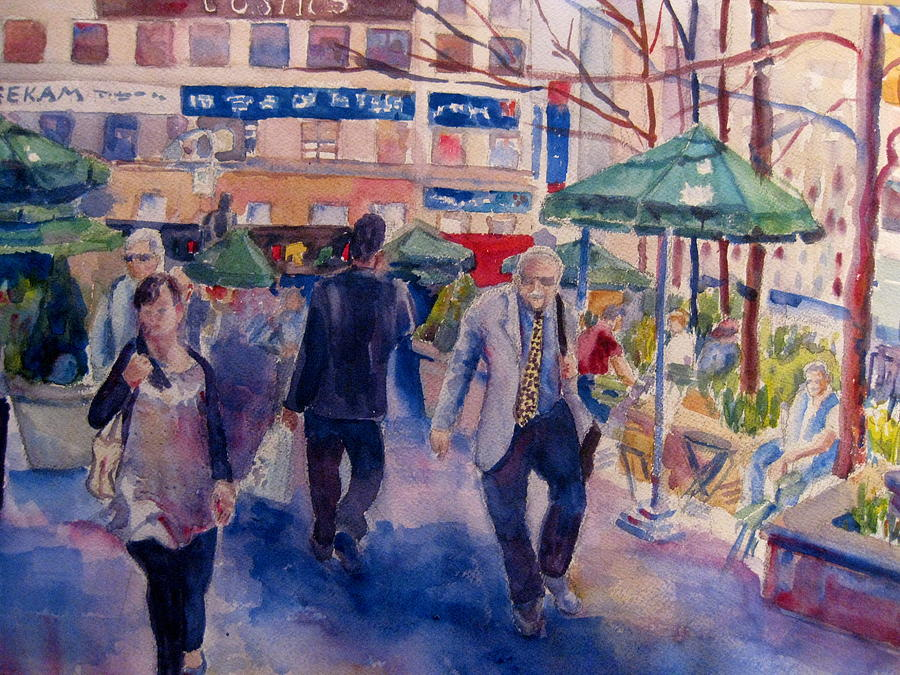 Greeley Square Park Painting - Greeley Square by Joyce Kanyuk
