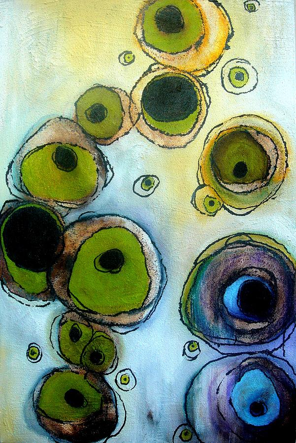 Eyes Painting - Green And Blue by Lizzie  Johnson