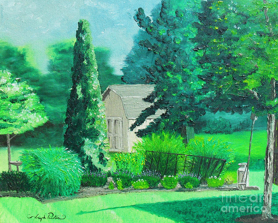 Landscape Painting - Green And Growing by Joseph Palotas