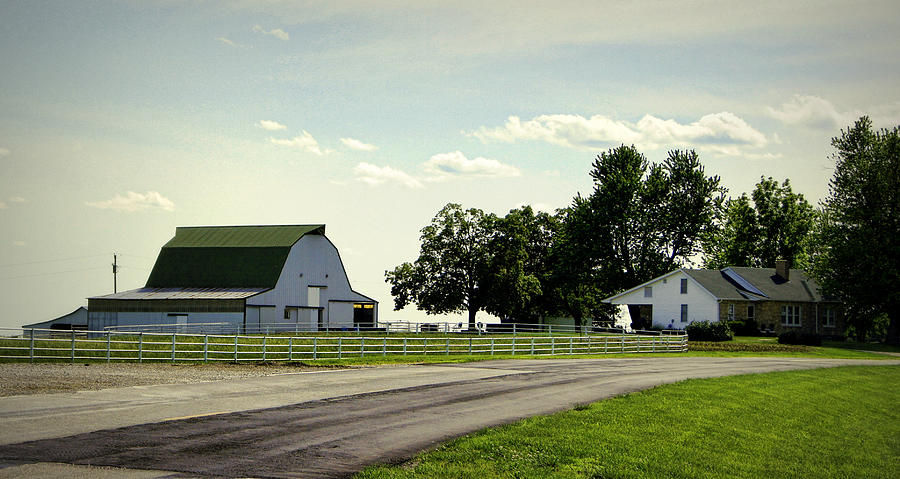Green And White Farm Photograph