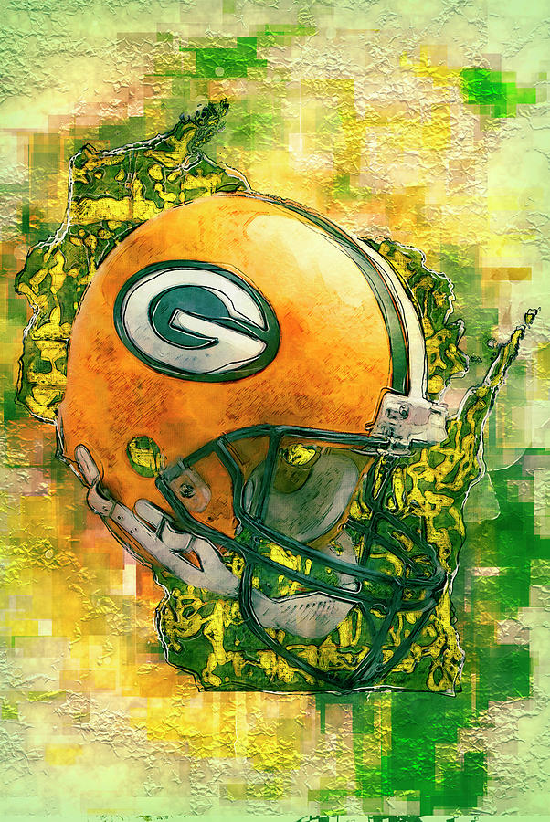 Green Painting - Green Bay Packers by Jack Zulli