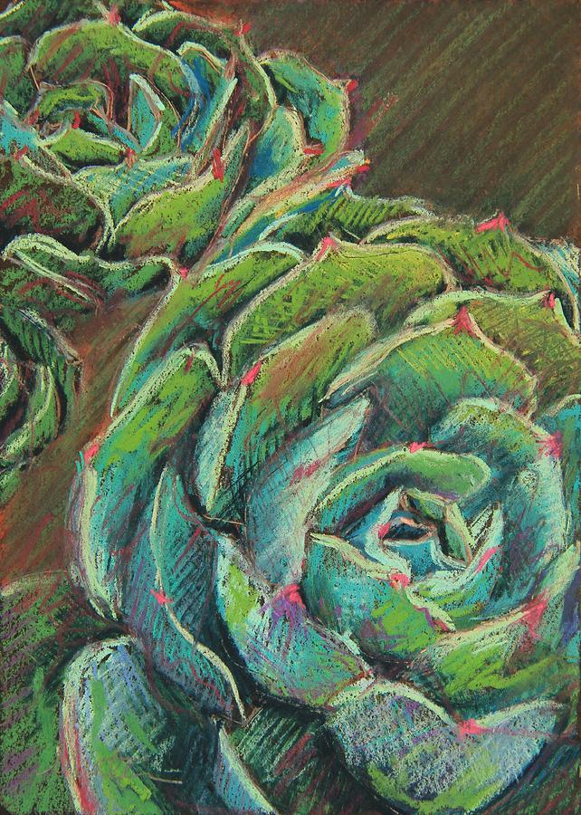 Green Echeveria Painting