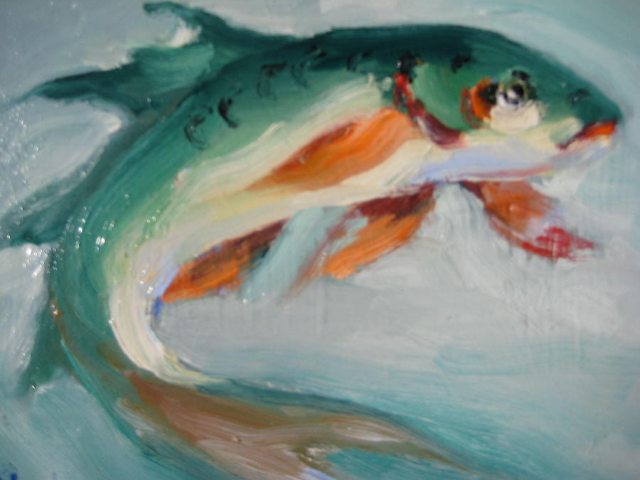 Green fish painting by susan jenkins for Susan s fish and chips