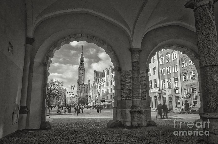 Green Gate, Long Market, Gdansk Bw Photograph