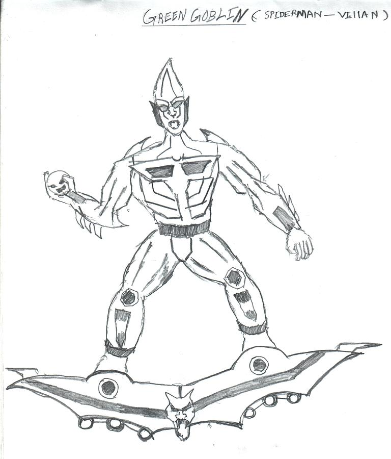 Green goblin free colouring pages for Green goblin coloring pages