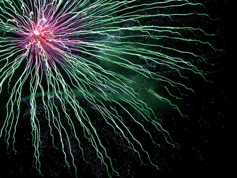 Fireworks Photograph - Green Independence by Adam Long