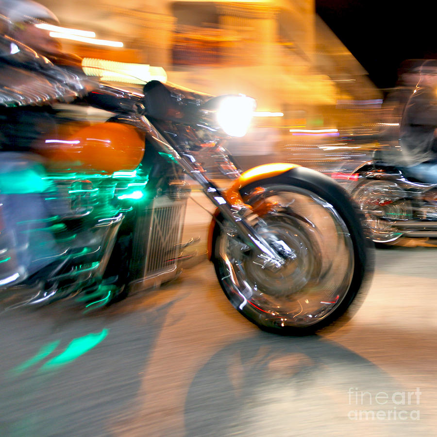 Motorcycles Photograph - Green Machine by Glennis Siverson