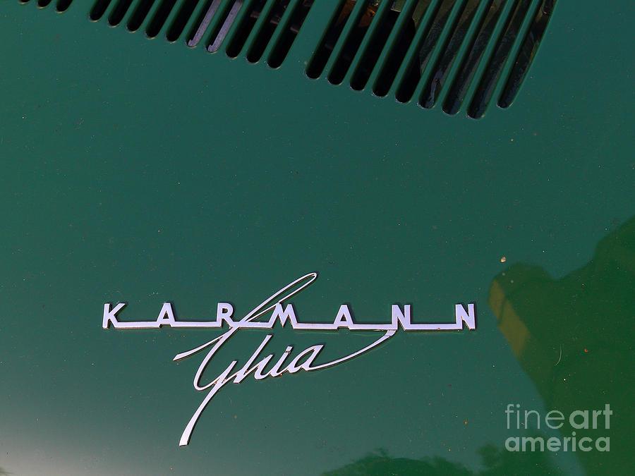 Transportation Photograph - Green Volkswagon Karmann Ghia . 7d10091 by Wingsdomain Art and Photography