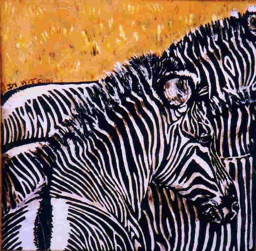 Zebras Painting - Grevy Colt by Dy Witt