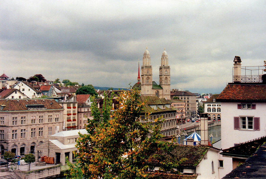 Zurich Photograph - Grossmuenster Church Zurich Switzerland by Susanne Van Hulst