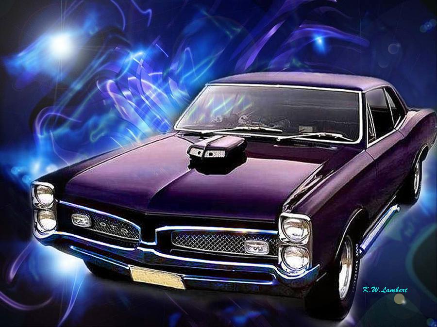 Purple Digital Art - GTO by Kenneth Lambert