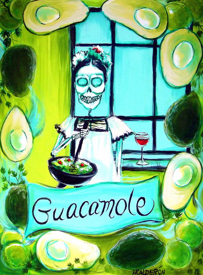 Day Of The Dead Painting - Guacamole by Heather Calderon