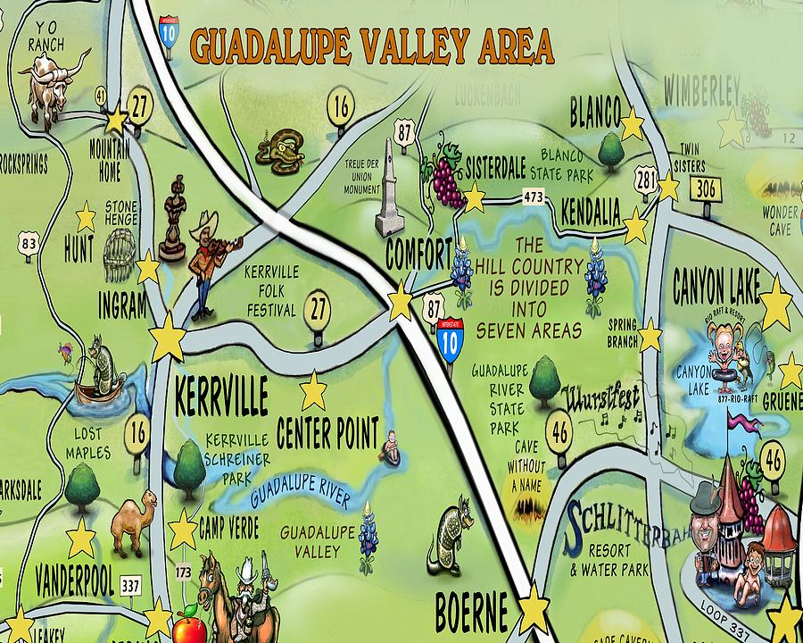 Guadalupe Valley Area Digital Art