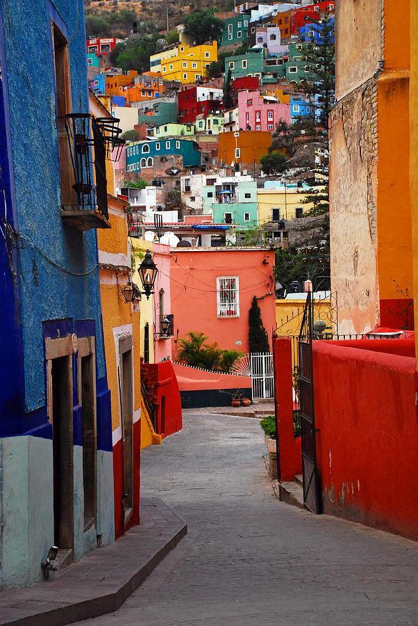 Skip Hunt Photograph - Guanajuato Lane by Skip Hunt