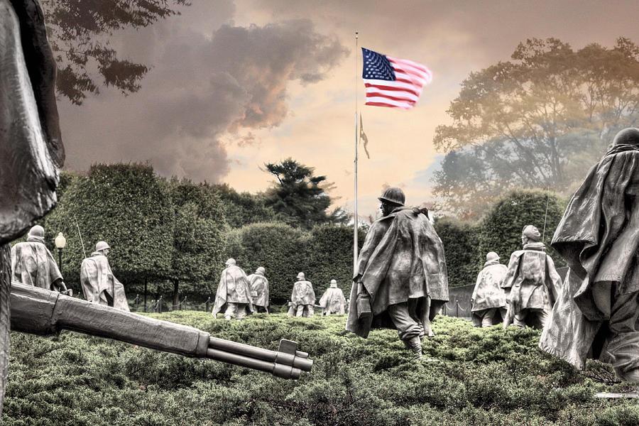 Korean War Memorial Photograph - Guardians by JC Findley