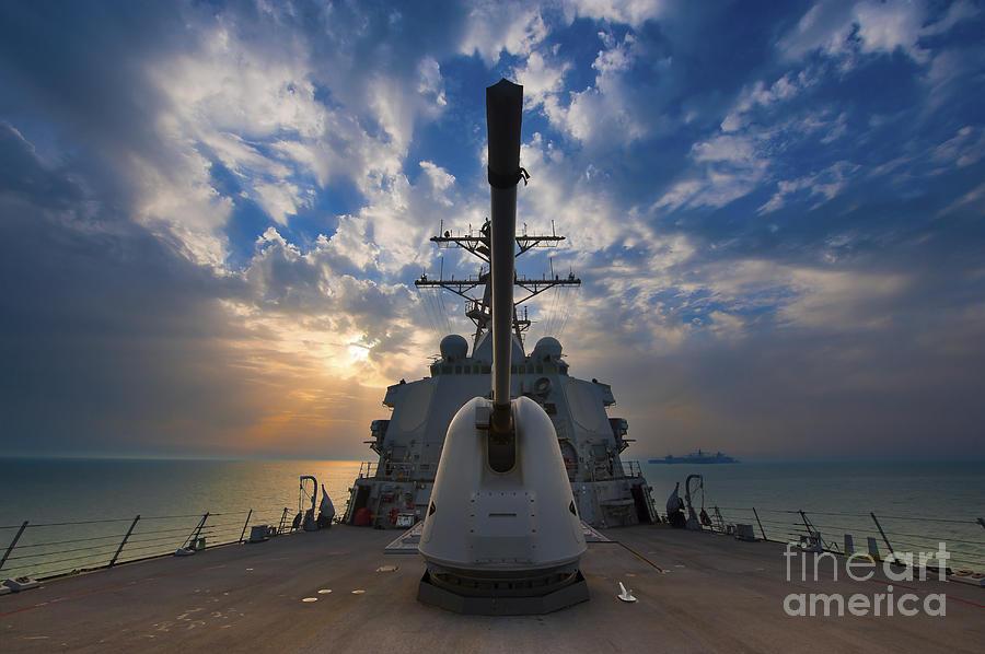 Uss Higgins Photograph - Guided-missile Destroyer Uss Higgins by Stocktrek Images