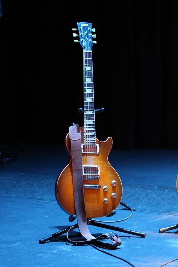 Guitar Photograph - Guitar Blue by Lauri Novak