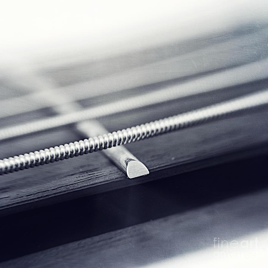 Black Photograph - guitar IV by Priska Wettstein