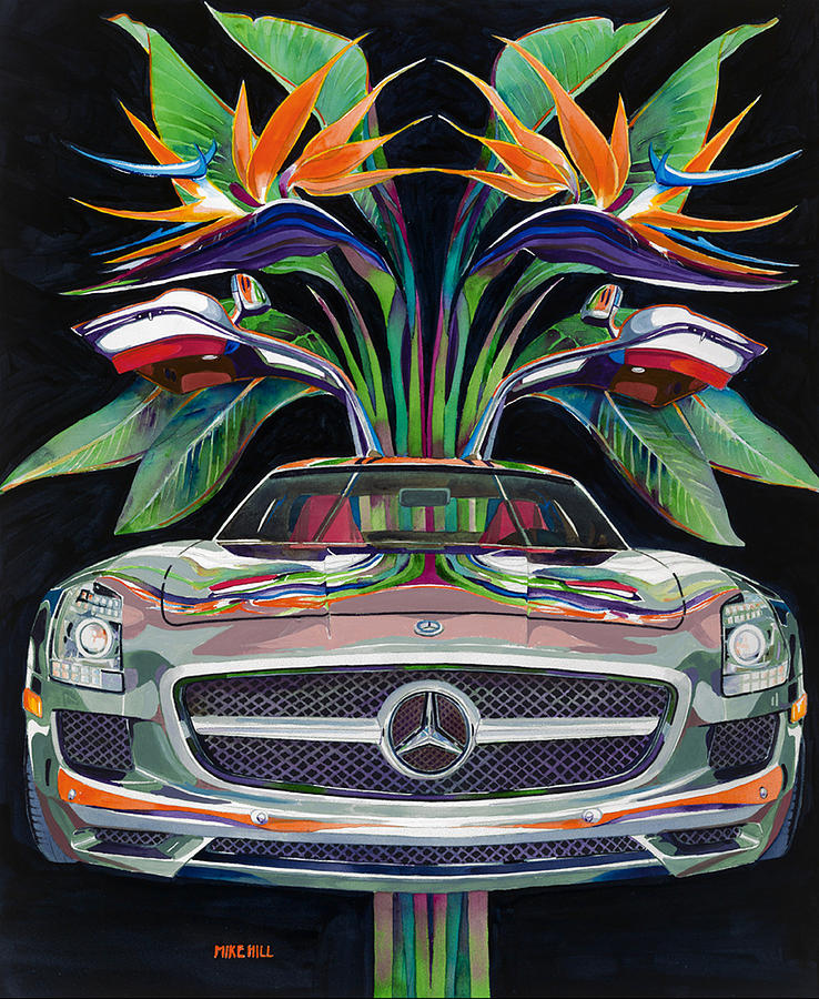 Wing Door Eco Car Gull Wing Doors Timber Steel Framed: Gullwing Birds Of Paradise Painting By Mike Hill