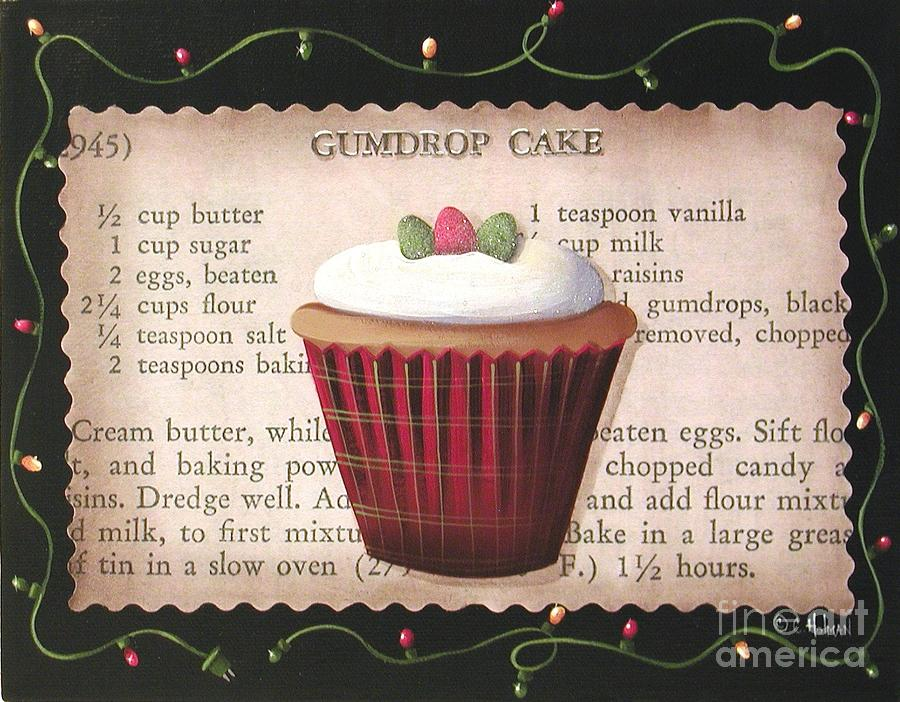 Art Painting - Gumdrop Cupcake by Catherine Holman