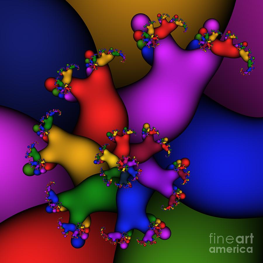 Abstract Digital Art - Gummy Bears 186 by Rolf Bertram
