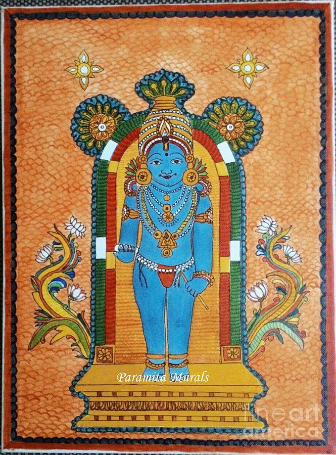 Guruvayurappan kerala mural painting by rasitha ratnakar for Average cost of mural painting