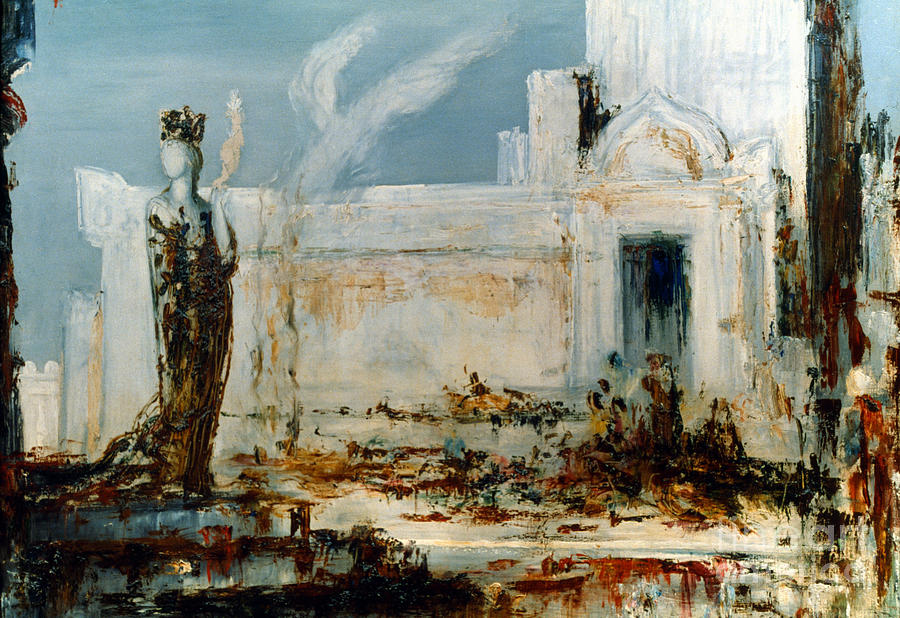 Ancient Painting - Gustave Moreau: Helene by Granger