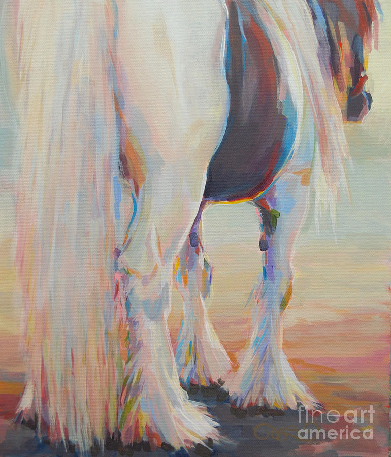 Gypsy Vanner Painting - Gypsy Falls by Kimberly Santini