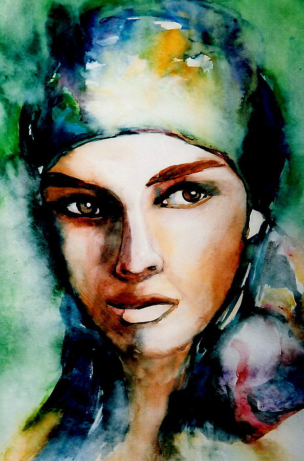 Gypsy Woman Painting Gypsy Painting by Mary...