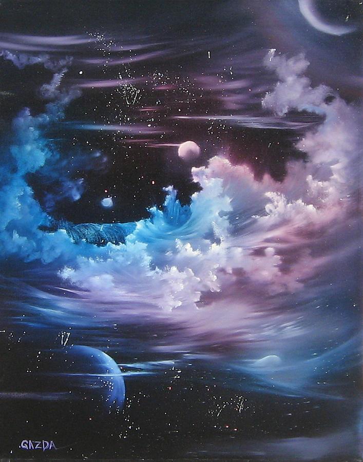 Visionary Painting - h2o Vapor by David Gazda