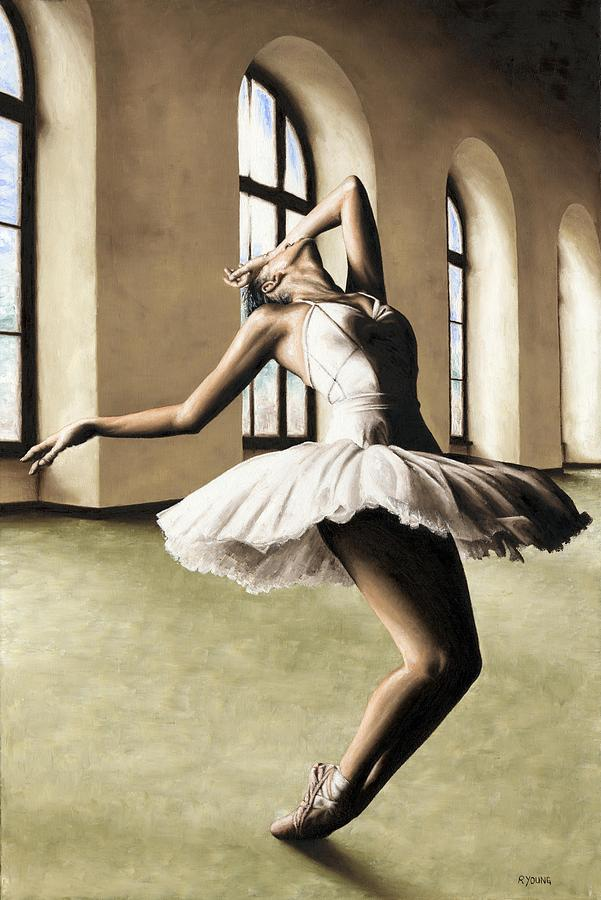 Dancer Painting - Halcyon Ballerina by Richard Young