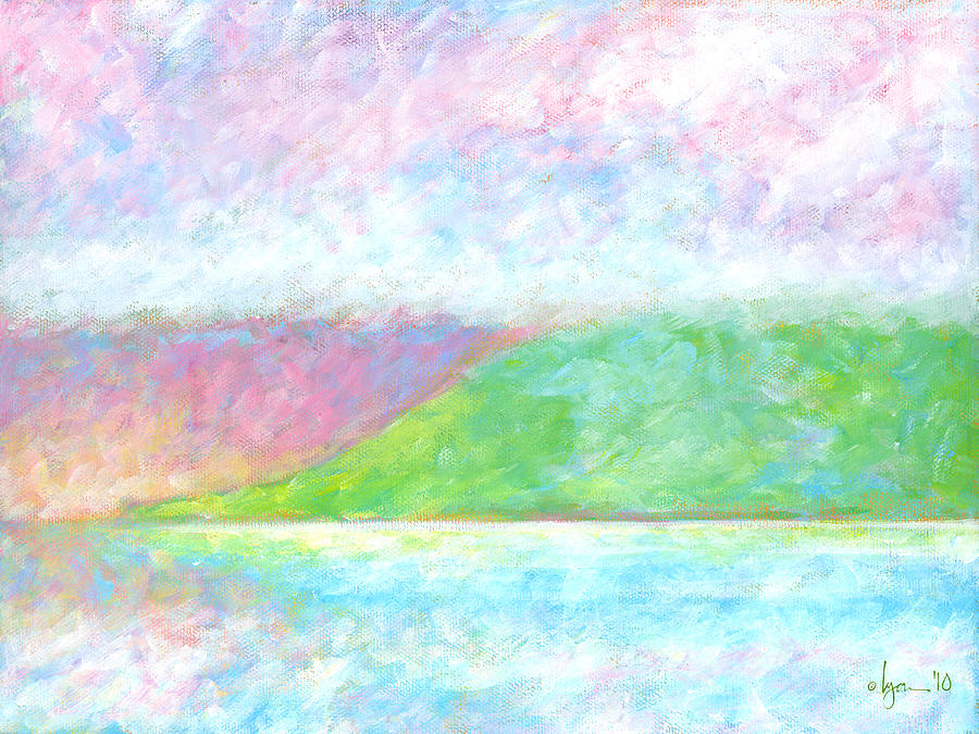 Light Painting - Haleakala Dawn by Angela Treat Lyon